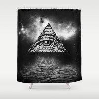 illuminati Shower Curtains featuring Illuminati 3 by gypsykissphotography