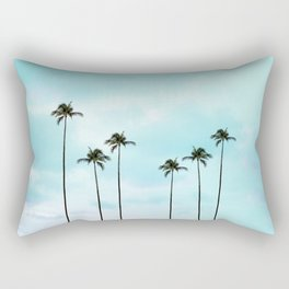 Palm Tree Photography | Turquoise Sky Rectangular Pillow