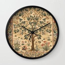 WILLIAM MORRIS - TREE OF LIFE Wall Clock