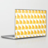 orange pattern Laptop & iPad Skins featuring Orange Pattern by MarianaLage