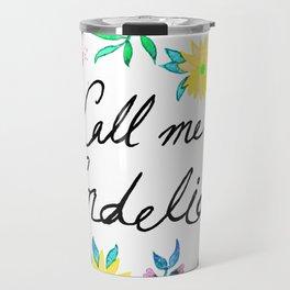 Call Me Cordelia - Yellow Flowers Travel Mug