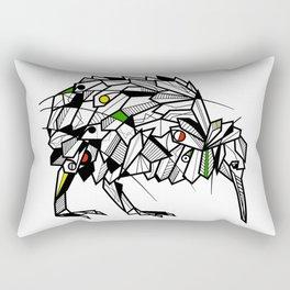 Kiwi Bird Geometric Rectangular Pillow