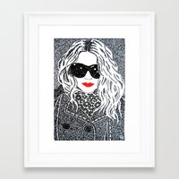 chic Framed Art Prints featuring CHIC by The Curly Whirl Girly.