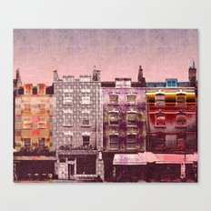 Pink Houses Canvas Print