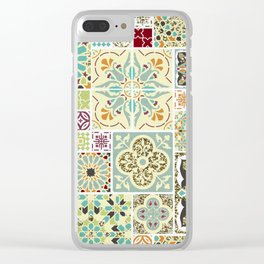 Moroccan Tile Pattern II Clear iPhone Case