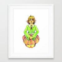 chihiro Framed Art Prints featuring Chihiro by Mottinthepot