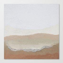 Sandy Rocks Canvas Print