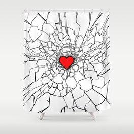 Heartbreaker III White Shower Curtain