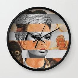 Self-Portrait with Small Monkey by F.K. & Sophia Loren Wall Clock