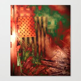 Our Flag Attacked Canvas Print
