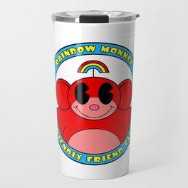 Rainbow Monkey Friendly Friend Club! Travel Mug