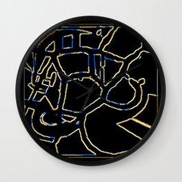 Animal Pattern Abstract Wall Clock
