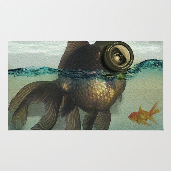 Fish eye lens Rug