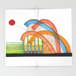 Symphony Pavilion for Outdoor Sounds 93 Throw Blanket