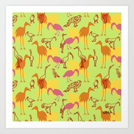 Feathered Flocks - Gaggle Art Print