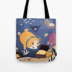 Diving For Treasure! Tote Bag