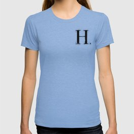 H . - Distressed Initial T-shirt