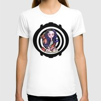 goth T-shirts featuring Viola  goth by Silviacat