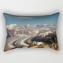 ALASKA I: Ruth Glacier beneath Denali ~ The Great One ~ Mt. McKinley Rectangular Pillow