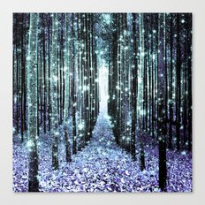 Magical Forest Lavender Aqua/Teal Canvas Print