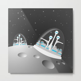 popfuture: moon colony Metal Print