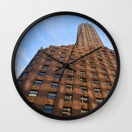Orange Midtown Building Wall Clock