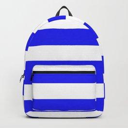 Bluebonnet - solid color - white stripes pattern Backpack