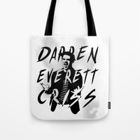 darren criss Tote Bags featuring Darren Criss by kltj11