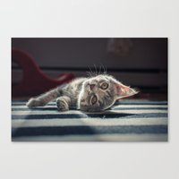 ninja Canvas Prints featuring Ninja by ouch!