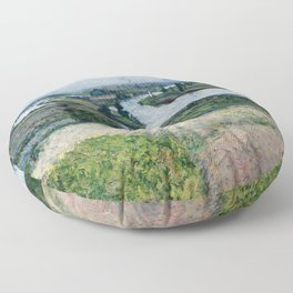 "Gustave Caillebotte ""The Seine at Pointe d'Epinay"" Floor Pillow"