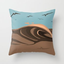 Illegal waves Throw Pillow