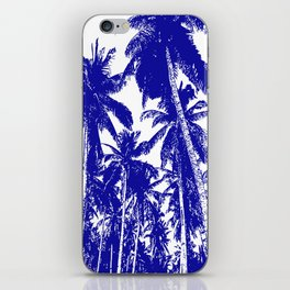 Palm Trees Design in Blue and White iPhone Skin