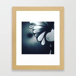 blossoming mind in blue tone Framed Art Print