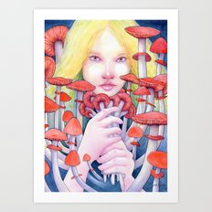 Keeper of the Scarlet Garden Art Print