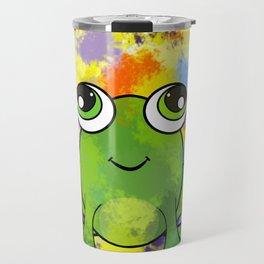 Cute frog and fresh paint Travel Mug