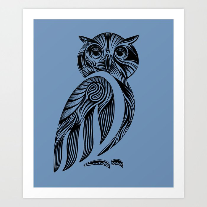 Tribal Owl Art Print