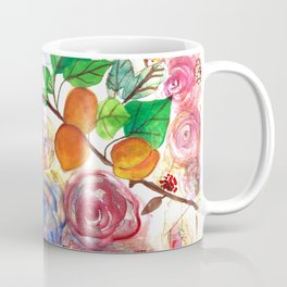 Abstract Watercolour Floral + Fruit Painting  Coffee Mug