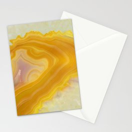 Spilled molten gold agate Stationery Cards