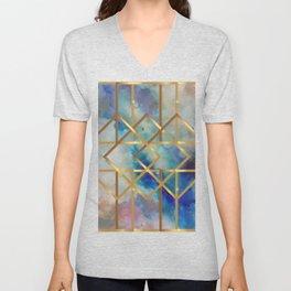 Elves Window - Pastel Marble Geometry Unisex V-Neck