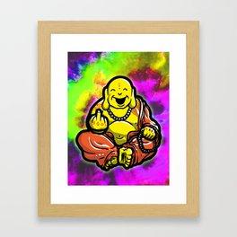 F U Buddha Framed Art Print