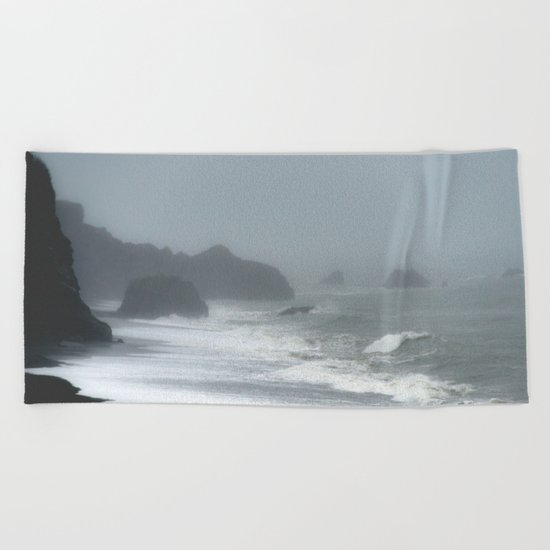 Pacific Northwest Beach Storm Beach Towel