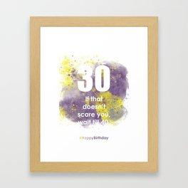 AgeIsJustANumber-30-PurpleThunderA Framed Art Print