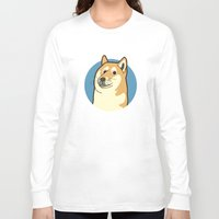 doge Long Sleeve T-shirts featuring Doge by evannave