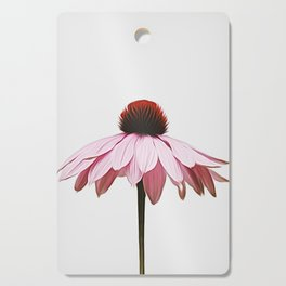 Single Pink Flower Cutting Board