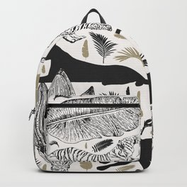 Wild Cats and Botanicals Backpack