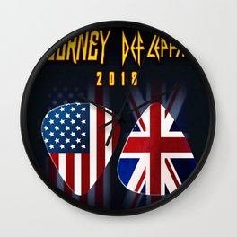 tour journey 2018 leppard ori Wall Clock