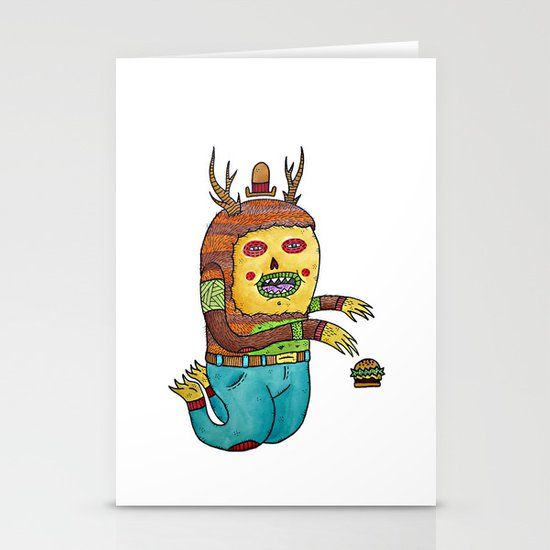 Burger time. Stationery Cards
