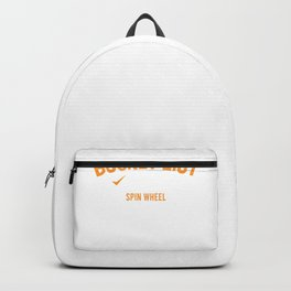 Game Show Bucket List Tickets Spin Wheel Win Showcase Backpack