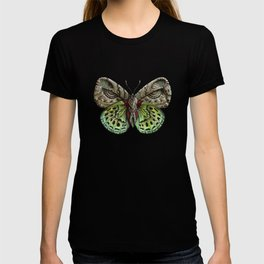 Green steampunk butterfly T-shirt