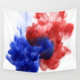 Patriotic Ink Drop Wall Tapestry